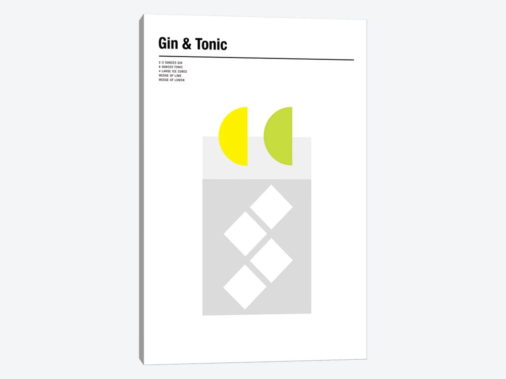 Gin & Tonic by Nick Barclay 1-piece Canvas Art Print
