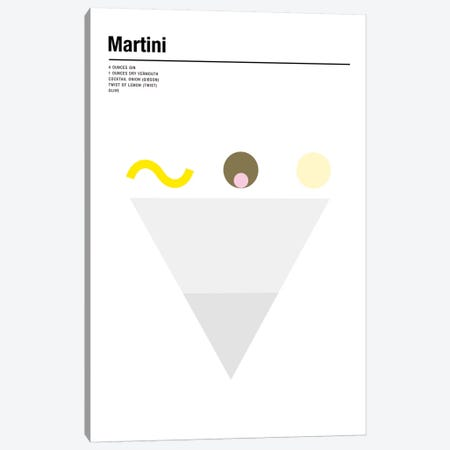 Martini Canvas Print #NIB38} by Nick Barclay Art Print