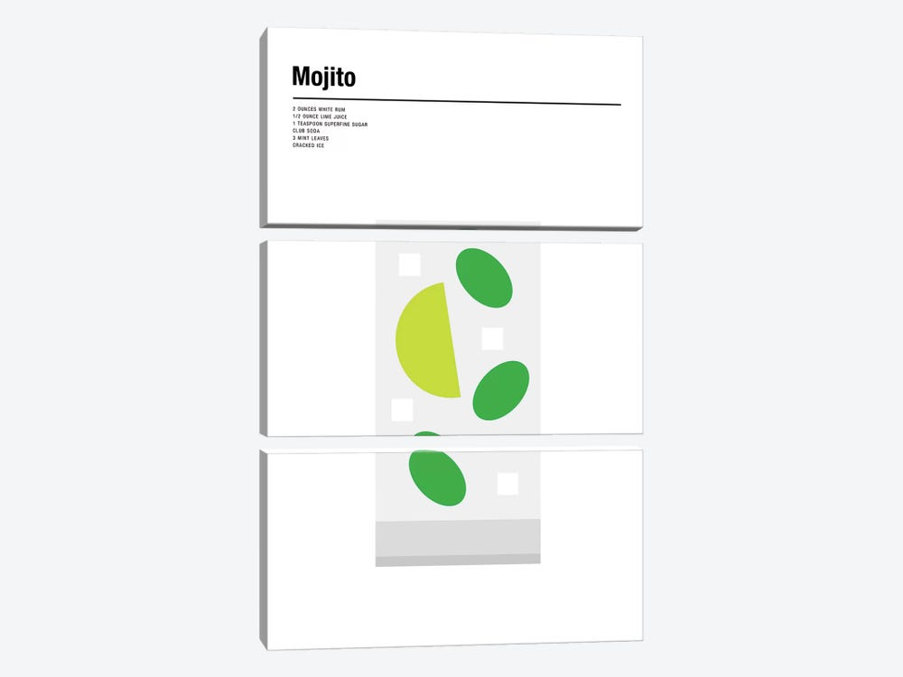 Mojito by Nick Barclay 3-piece Canvas Print