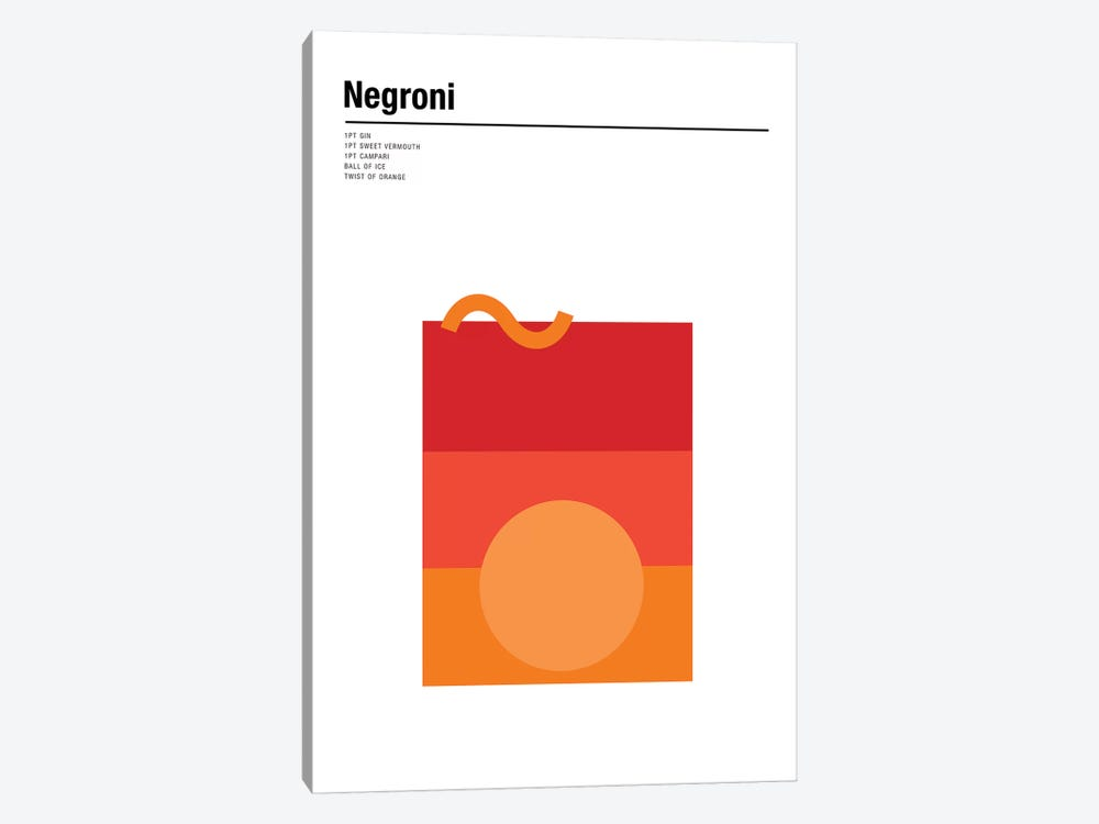 Negroni 1-piece Canvas Print