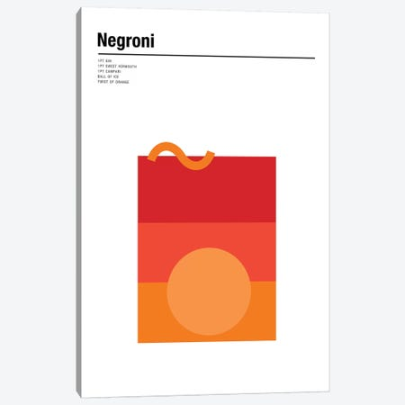 Negroni Canvas Print #NIB40} by Nick Barclay Canvas Art
