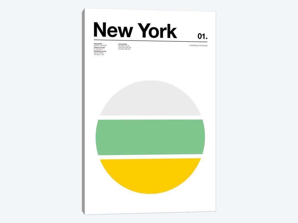 New York by Nick Barclay 1-piece Canvas Artwork