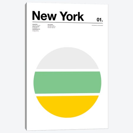 New York Canvas Print #NIB63} by Nick Barclay Canvas Art