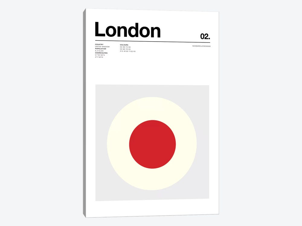 London by Nick Barclay 1-piece Canvas Art Print