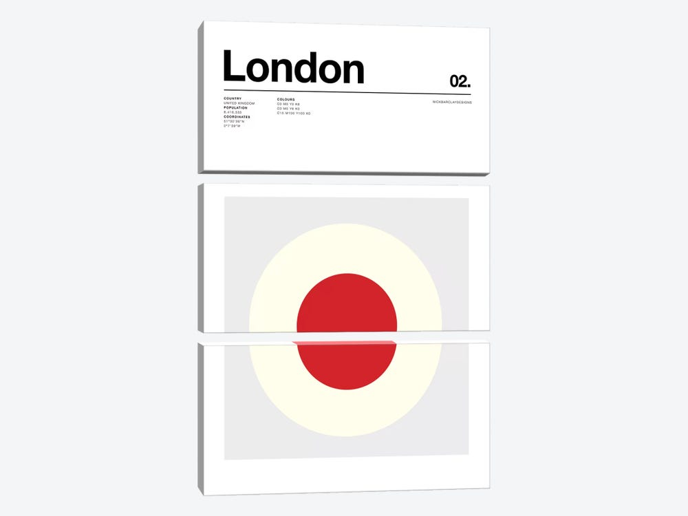 London by Nick Barclay 3-piece Canvas Art Print