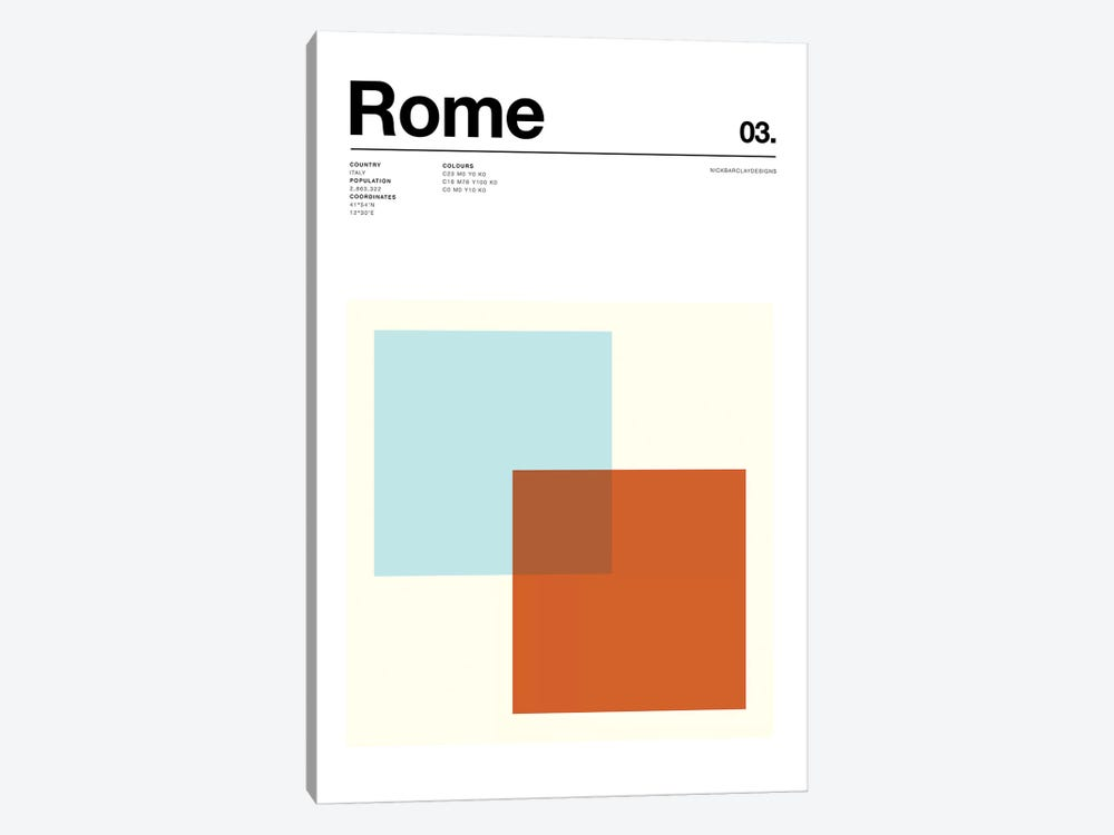 Rome by Nick Barclay 1-piece Canvas Wall Art