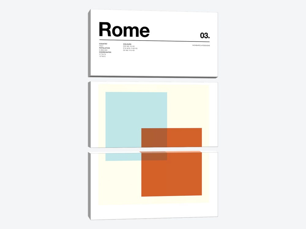 Rome by Nick Barclay 3-piece Canvas Artwork
