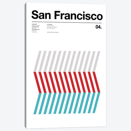 San Francisco Canvas Print #NIB66} by Nick Barclay Canvas Print