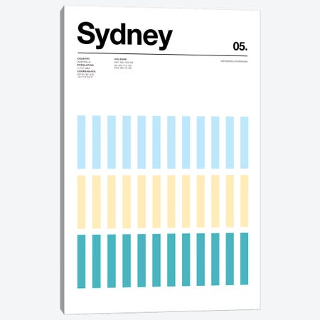 Sydney Canvas Print #NIB67} by Nick Barclay Canvas Art Print