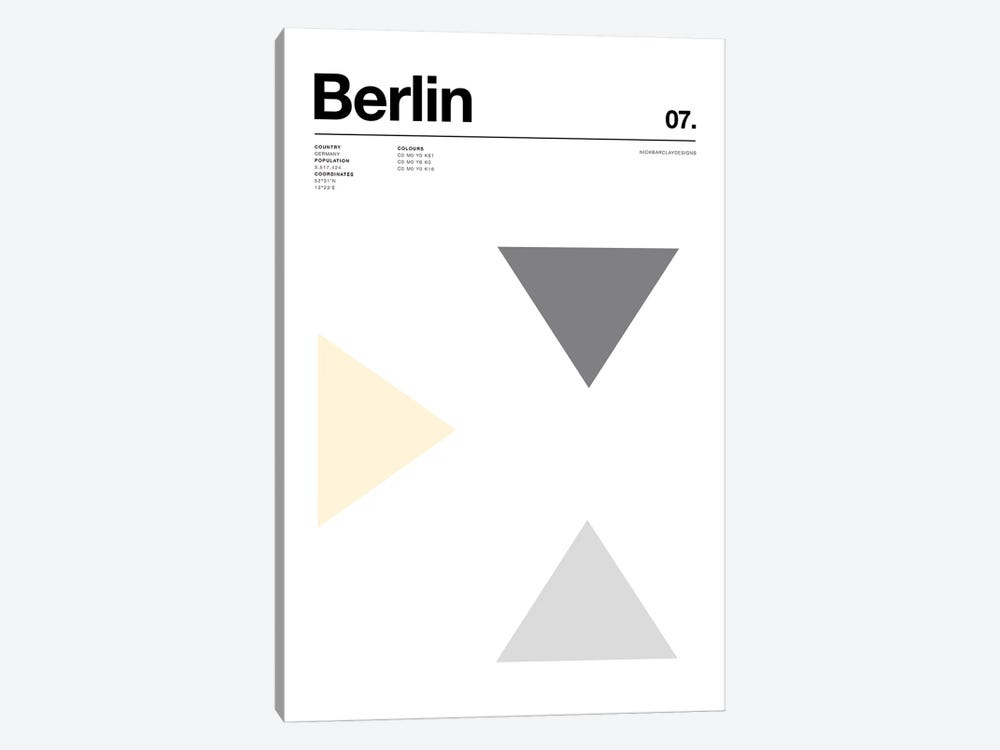 Berlin by Nick Barclay 1-piece Canvas Art Print