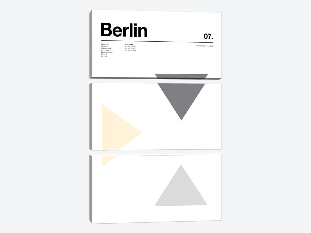 Berlin by Nick Barclay 3-piece Canvas Art Print