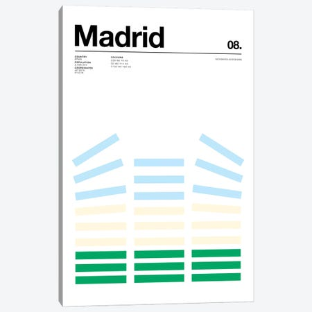 Madrid Canvas Print #NIB69} by Nick Barclay Canvas Artwork