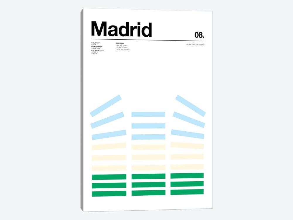 Madrid by Nick Barclay 1-piece Canvas Art