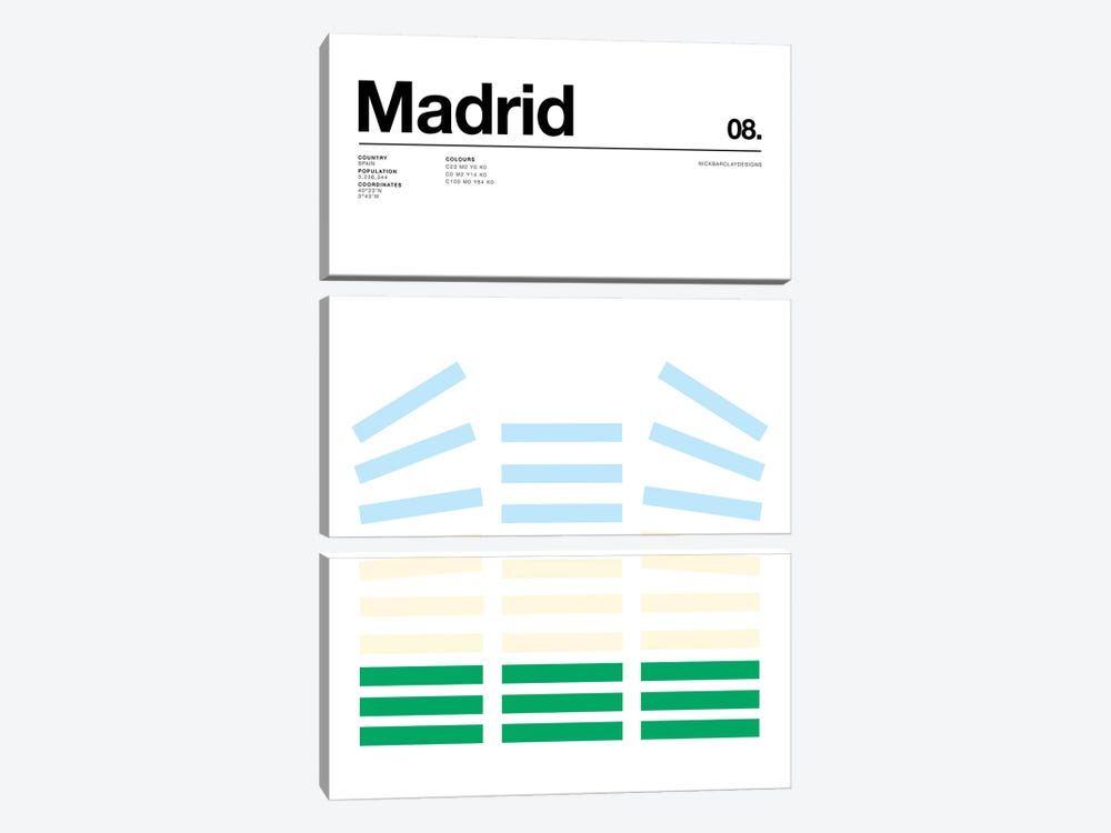 Madrid by Nick Barclay 3-piece Canvas Art