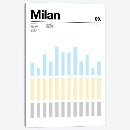Milan Canvas Print #NIB70} by Nick Barclay Canvas Print