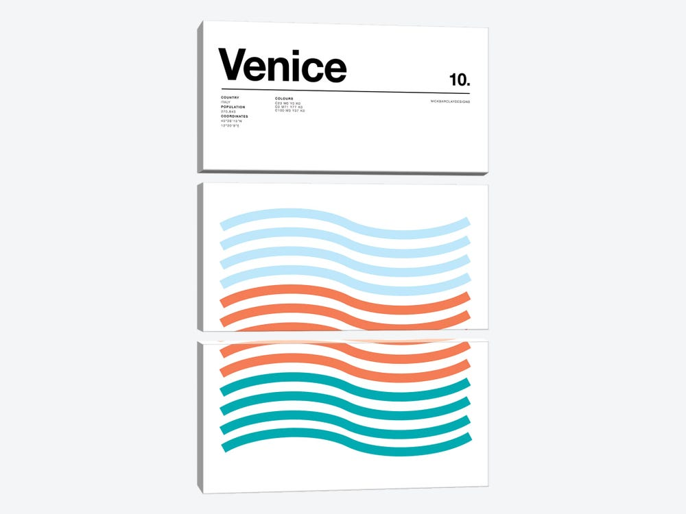 Venice by Nick Barclay 3-piece Canvas Print