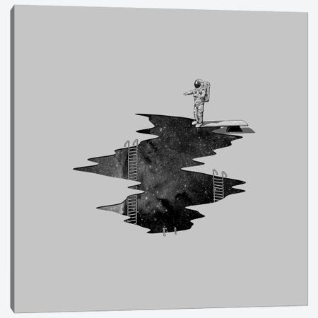 Space Diving II Canvas Print #NID100} by Nicebleed Canvas Wall Art