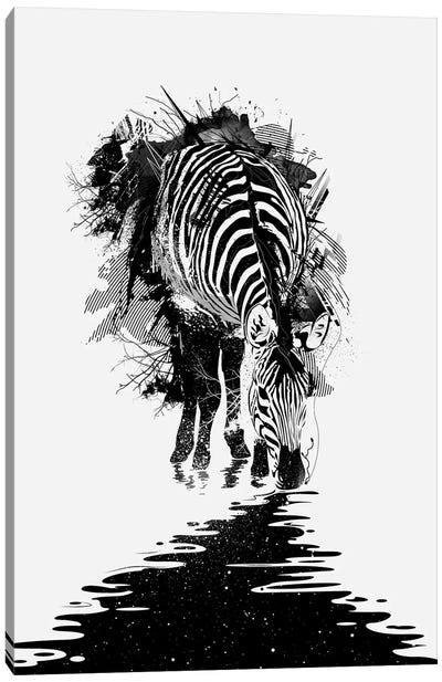 Stripe Charging Canvas Art Print
