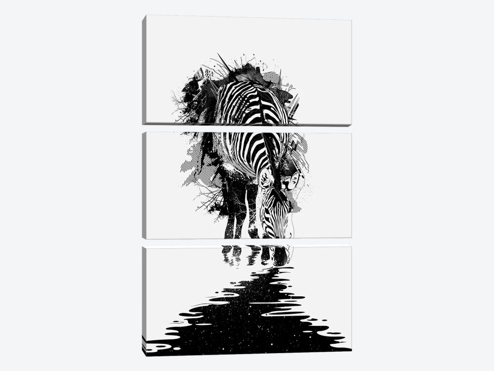 Stripe Charging by Nicebleed 3-piece Canvas Art Print