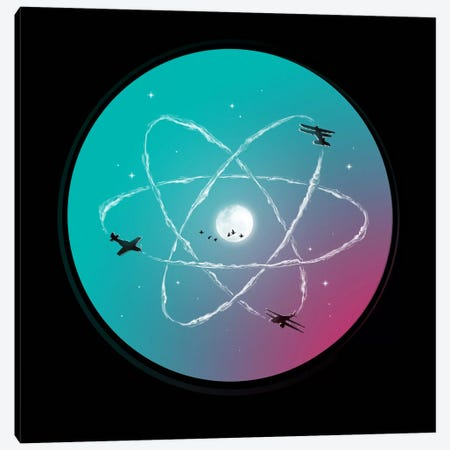 Atomic Formation Canvas Print #NID104} by Nicebleed Art Print