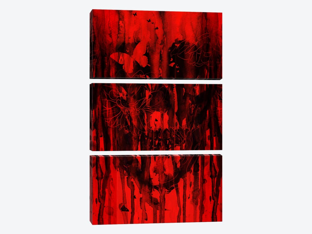 Birth Of Oblivion Red II by Nicebleed 3-piece Canvas Artwork