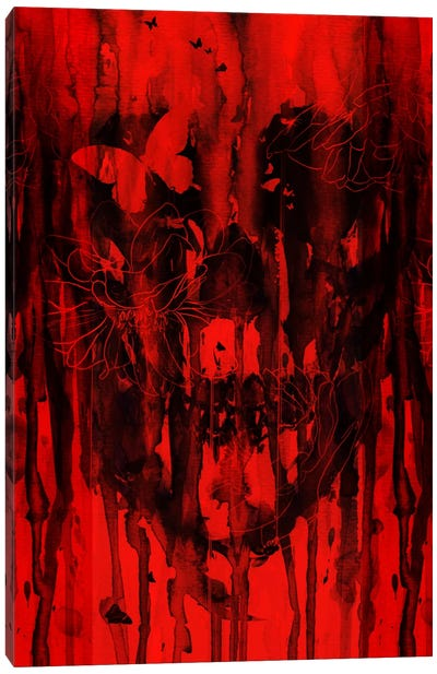Birth Of Oblivion Red II Canvas Art Print