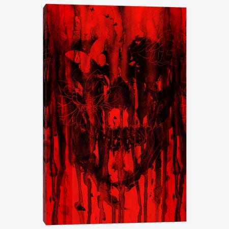 Birth Of Oblivion Red II Canvas Print #NID105} by Nicebleed Canvas Print