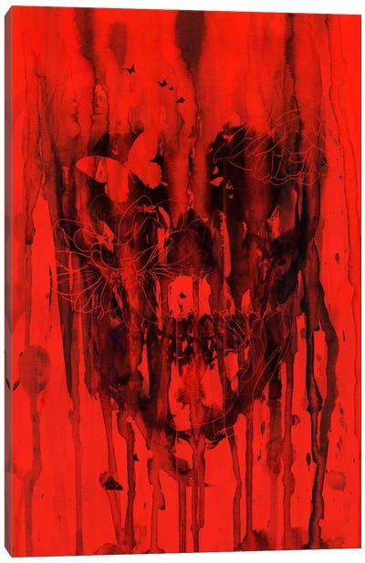 Birth Of Oblivion Red I Canvas Print #NID106