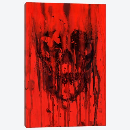 Birth Of Oblivion Red I 3-Piece Canvas #NID106} by Nicebleed Canvas Art Print