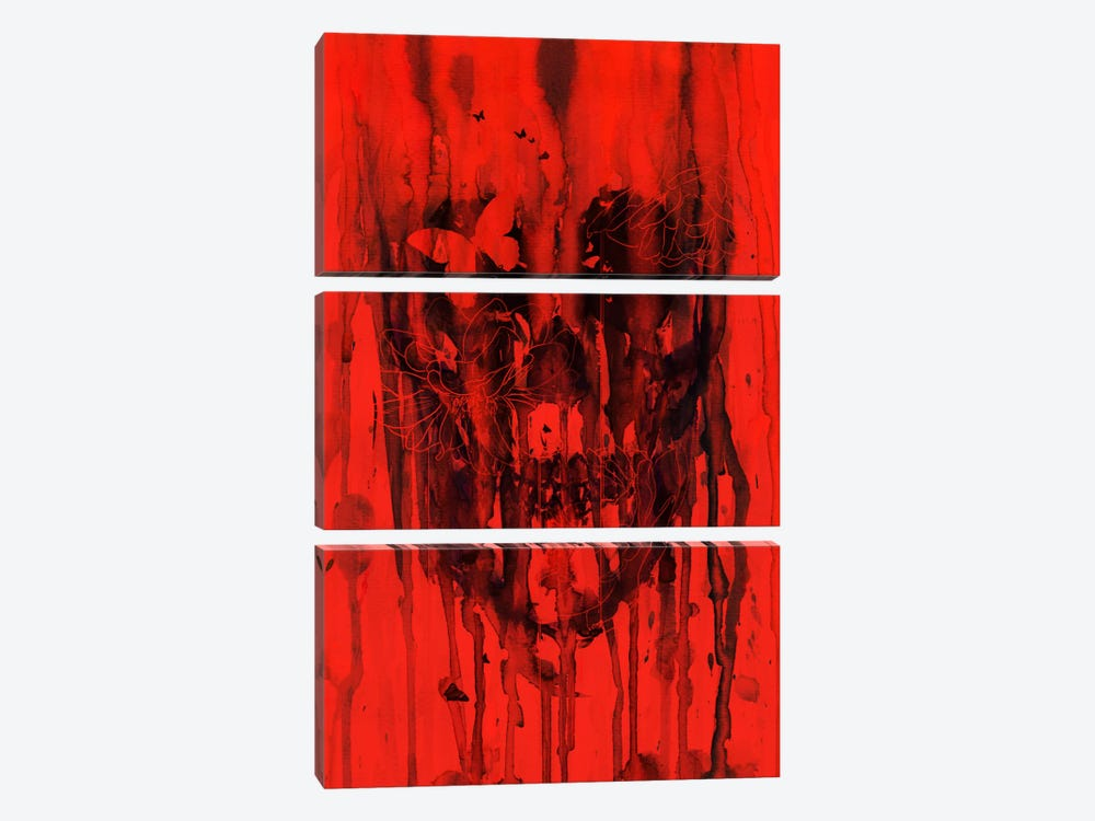 Birth Of Oblivion Red I by Nicebleed 3-piece Canvas Print