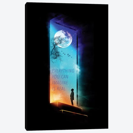 Everything You Can Imagine Is Real Canvas Print #NID116} by Nicebleed Canvas Artwork