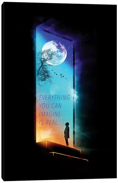 Everything You Can Imagine Is Real Canvas Art Print