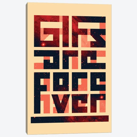 GIFs Are Forever Canvas Print #NID122} by Nicebleed Canvas Wall Art