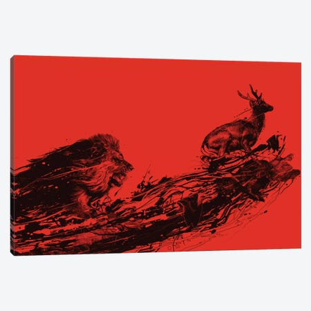 Intense Chasing Canvas Print #NID129} by Nicebleed Canvas Art