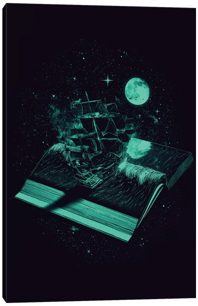 Crossing The Rough Sea Of Knowledge Canvas Art Print