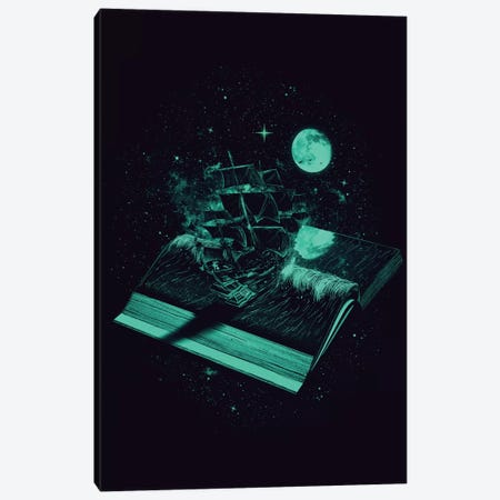Crossing The Rough Sea Of Knowledge Canvas Print #NID12} by Nicebleed Canvas Art Print