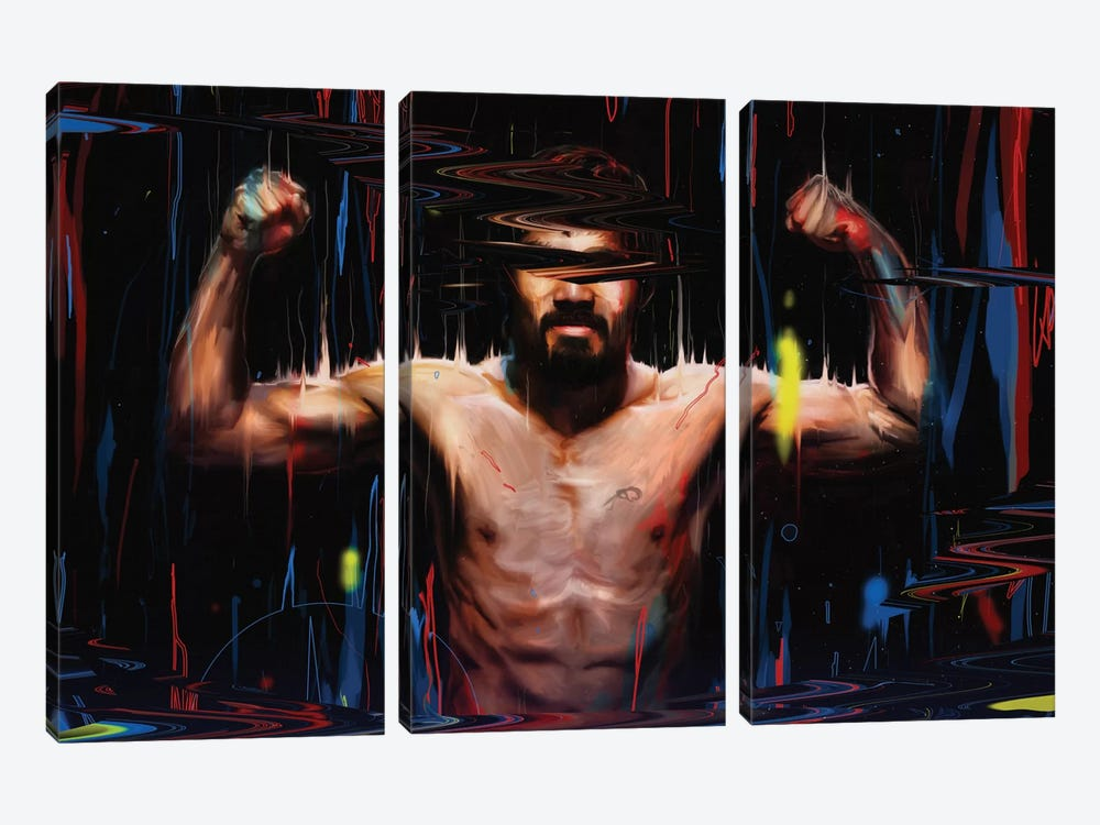 Manny Pacquiao by Nicebleed 3-piece Canvas Wall Art