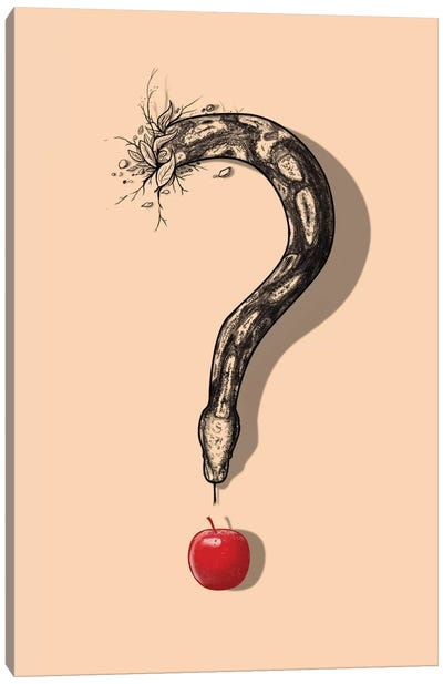 Curious Temptation Canvas Art Print
