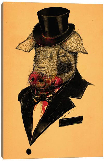 Mr. Pig Canvas Art Print