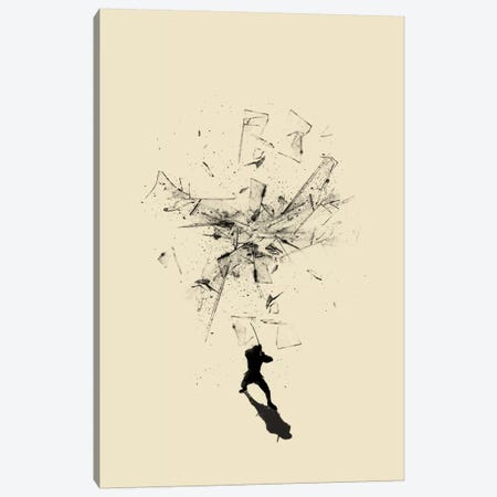 Ninja Moves Canvas Print #NID143} by Nicebleed Canvas Wall Art
