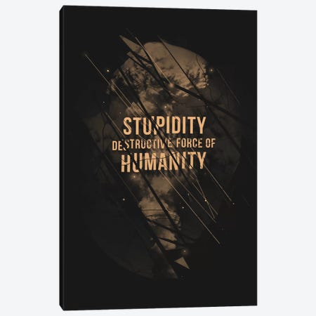Stupidity Canvas Print #NID149} by Nicebleed Canvas Wall Art