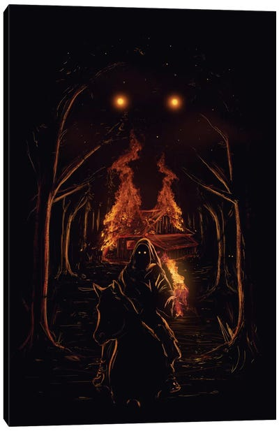 The Arsonist Canvas Art Print