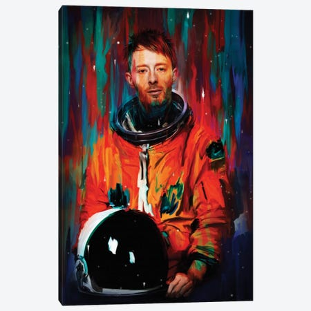Thom Yorke Canvas Print #NID156} by Nicebleed Canvas Art