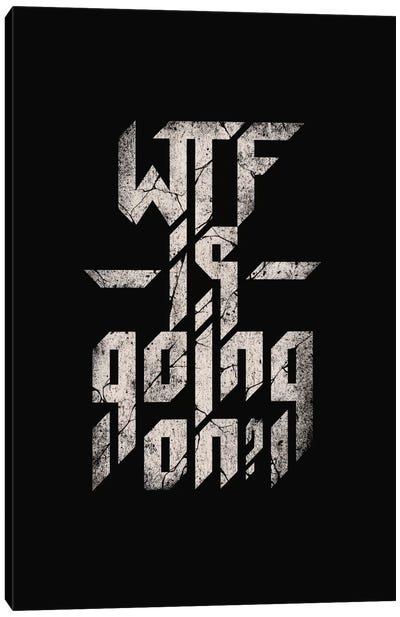 WTF Is Going On Canvas Art Print