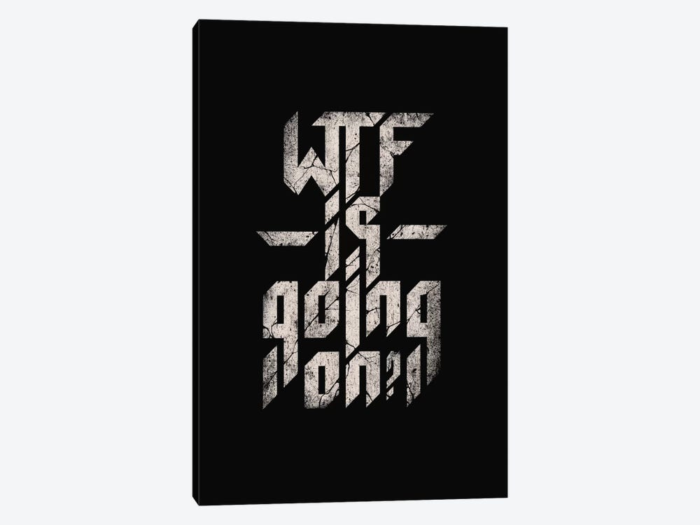 WTF Is Going On by Nicebleed 1-piece Canvas Art Print