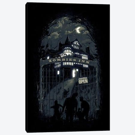 Zombies' Inn Canvas Print #NID161} by Nicebleed Canvas Wall Art