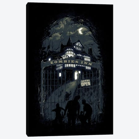 Zombies' Inn Canvas Print #NID161} by Nicebleed Canvas Wall Art