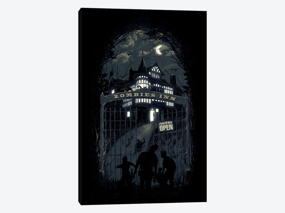 Zombies' Inn 1-piece Canvas Art