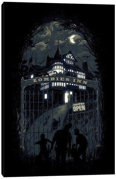 Zombies' Inn Canvas Art Print