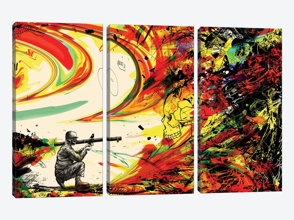 Bazooka Overload by Nicebleed 3-piece Art Print